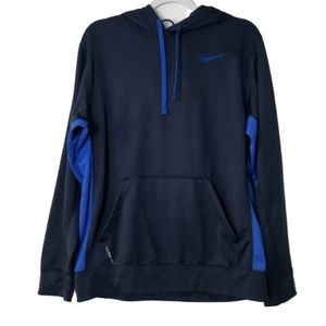 Nike logo blue therma-fit hoodie sweatshirt
